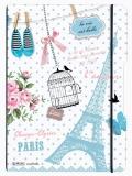 Caiet My.Book Flex A4 2x40 file dictando+patrarele Vintage Paris Herlitz