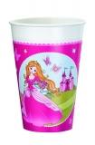 Pahar plastic 0,2 l imprimat 8 bucati/set Princess Herlitz
