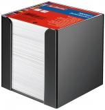 Cub notes cu suport negru 9 x 9 x 9 cm 700 file albe Herlitz