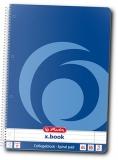 Caiet cu spira A4, 80 file, dictando, 70 g/mp, X.Book Herlitz