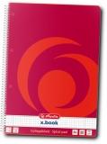 Caiet cu spira A4, 80 file, matematica, 70 g/mp, X.Book Herlitz