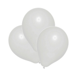 Baloane albe helium biodegradabile 25 buc/set Herlitz