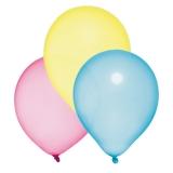 Baloane sidef culori asortate helium biodegradabile 10 buc/set Herlitz