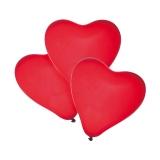 Baloane rosii forma inima helium biodegradabile 4 buc/set Herlitz