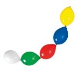 Baloane ghirlanda diverse culori helium biodegradabile 12 buc/set Herlitz