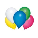 Baloane rotunde culori asortate helium biodegradabile 50 buc/set Herlitz
