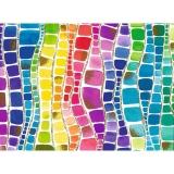 Hartie impachetat 2 m x 70 cm  rainbow squares Herlitz