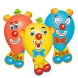Baloane funny clowns 6 buc/set Herlitz