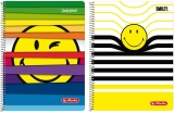 Caiet cu spira A4, 80 file, dictando, perforat, liniat, SmileyWorld Herlitz