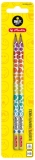 Creion grafit, triunghiular, HB, SmileyWorld Rainbow 2 buc/blister Herlitz