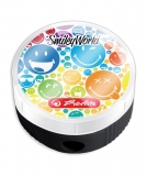Ascutitoare rotunda cu container SmileyWorld Rainbow Herlitz