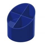 Suport instrumente de scris 4 compartimente albastru intens Herlitz