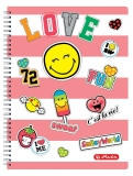 Caiet cu spira A4 70 file matematica SmileyWorld Girly Herlitz