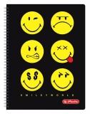 Caiet cu spira A4 70 file matematica SmileyWorld Herlitz negru
