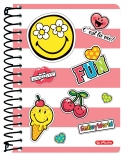 Caiet cu spira 10x14 cm 200 file SmileyWorld Girly Herlitz
