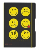 Caiet A4 2 x 40 file 80gr dictando + patratele Smiley World Black  My.book Flex Herlitz