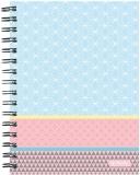 Caiet cu spira A5 100 file matematica Graphic Pastels Blue Herlitz