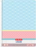 Caiet cu spira A4 80 file matematica Graphic Pastels Blue Herlitz
