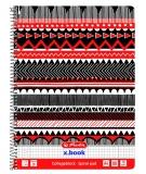 Caiet A4 80 file cu spirala matematica Black & WOW Ethno Herlitz