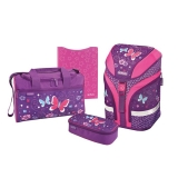 Ghiozdan echipat Motion Purple Butterfly Herlitz