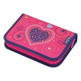 Penar echipat 31 piese Pink Hearts Herlitz