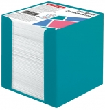 Cub notes cu suport turcoaz 9 x 9 x 9 cm 700 file albe Herlitz