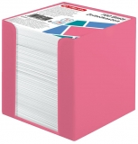 Cub notes cu suport roz 9 x 9 x 9 cm 700 file albe Herlitz