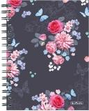 Caiet cu spira A5, 100 file, matematica, coperta tare, Ladylike Flowers Herlitz