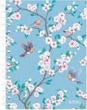 Caiet cu spira A5, 100 file, matematica, coperta tare, Ladylike Birds Herlitz