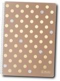 Caiet cu spira A4, 80 file, matematica, 70 g/mp, Pure Glam Herlitz