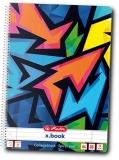 Caiet cu spira A4, 80 file, dictando, liniat dublu, perforat Neon Art Herlitz