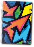 Caiet cu spira 10 x 14 cm, 200 file, matematica, Neon Art Herlitz