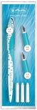 Stilou My.pen Style caligrafie+3 penite, 0.9/1.4/1.9 mm, Frozen Glam blister Herlitz