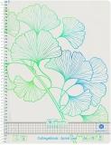 Caiet cu spira A4, 70 file, 80g/mp, matematica, Ginkgo Greenline Herlitz