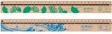 Rigla din lemn, 30 cm, diverse modele, Greenline Herlitz