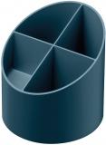 Suport instrumente de scris rotund, 4 compartimente, culoare albastru petrol, Herlitz
