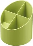 Suport instrumente de scris rotund, 4 compartimente, culoare verde, Herlitz