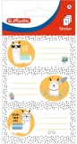 Etichete scolare motiv Llama, 9 buc/set, Herlitz