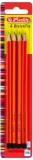 Creioane grafit lacuite, HB, 4 buc/set Herlitz