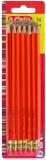 Creion cu guma HB set 24 buc rosu Herlitz