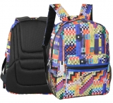 Rucsac cu 2 compartimente Colorful checkered Herlitz
