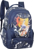 Rucsac cu un compartiment Geometric Action Navy Blue Herlitz
