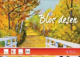 Bloc desen A4 15 file 230g/mp Herlitz