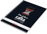 Caiet cu spira A4, 100 file, 70 g/mp, dictando Coffee Herlitz