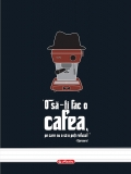 Caiet cu spira A4 100 file dictando Coffee Herlitz