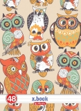 Set 10 caiete A4 48 file Owls dictando Herlitz