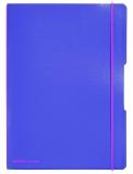 Caiet A4 My.Book Flex 2x40 file dictando+patratele violet transparent cu elastic roz Herlitz