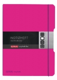 Caiet My.book Flex A4 2x40 file dictando+patratele roz inchis Herlitz