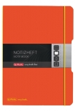 Caiet My.book Flex A4 2x40 file dictando+patratele portocaliu Herlitz