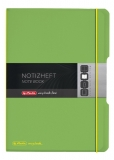 Caiet My.book Flex A4 2x40 file dictando+patratele verde transparent Herlitz